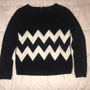 black and white chevron sweater